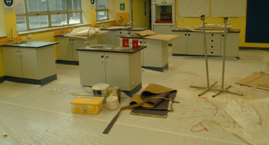 GBS Commercial Cleaning BEFORE lab